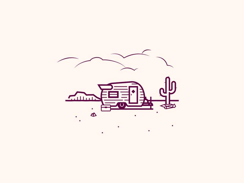 Shasta Camper desert rv camper vintage camping