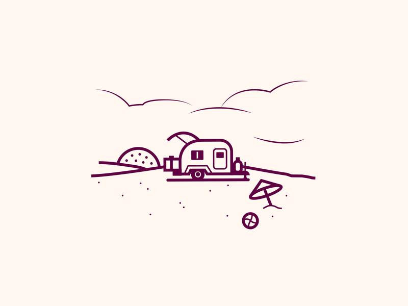 Tear Drop Camper beach camper camping