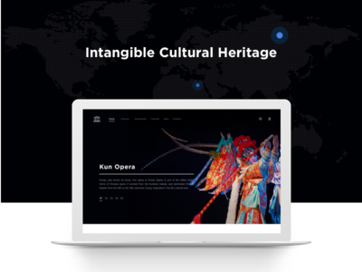 Intangible Cultural Heritage program  web design,landing page, intangible cultural heritage clean ui china culture