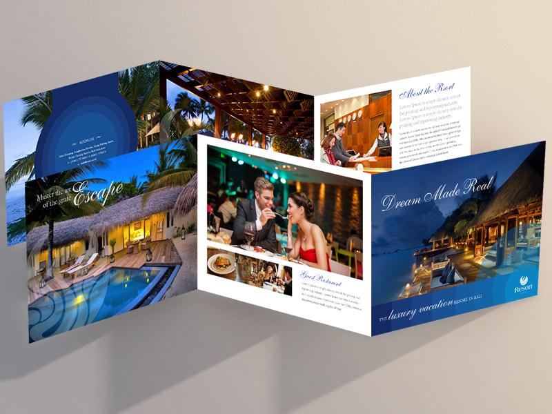 Bali Resort print media logo design ux design brochure design