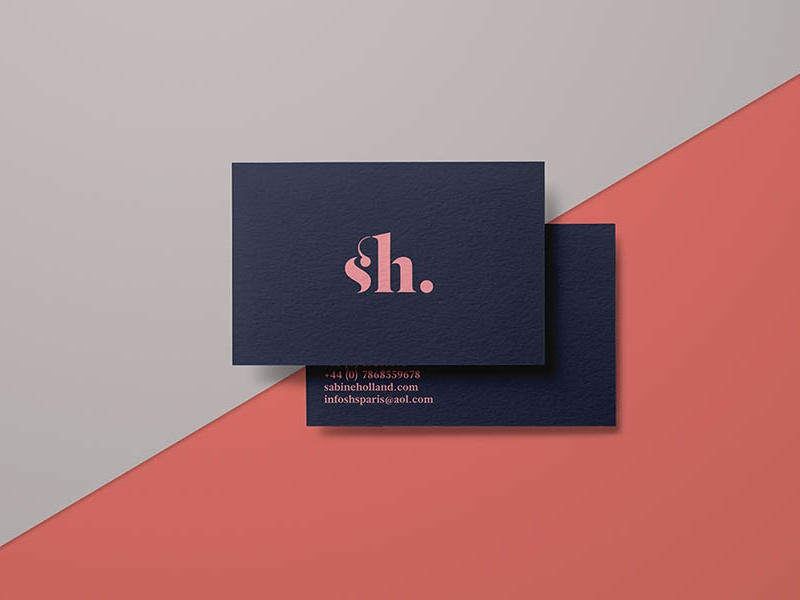 Sabine Holland: Fashion Editor Branding print design identity branding graphic design