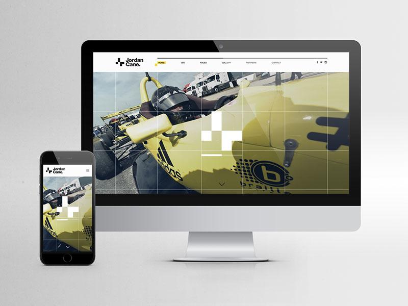 Jordan Cane: Racing driver branding direction art driver racing website identity branding design graphic