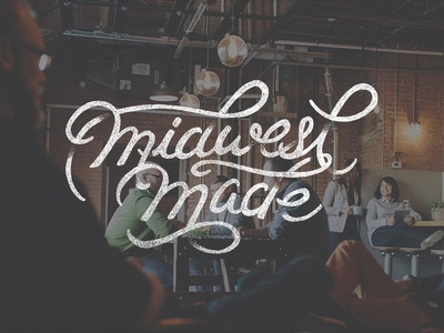 Midwest Made  hand lettering hand-lettering script typeface collaboration midwest midwest made honest folks texture lettering