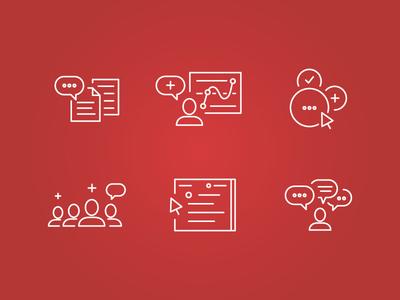 Digital Marketing Icon Set icon set icons digital digital marketing marketing user experience ux