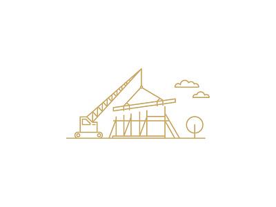 Armfield Crane illustration line art sustainable building environmentally friendly construction