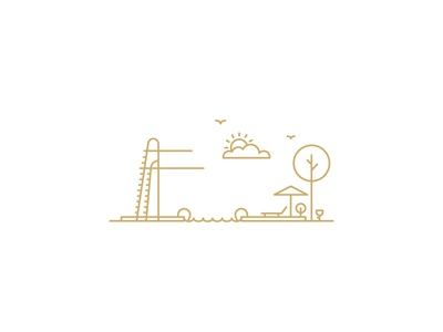 Armfield Pool sustainable building environmentally friendly poolside diving board illustration line art pool