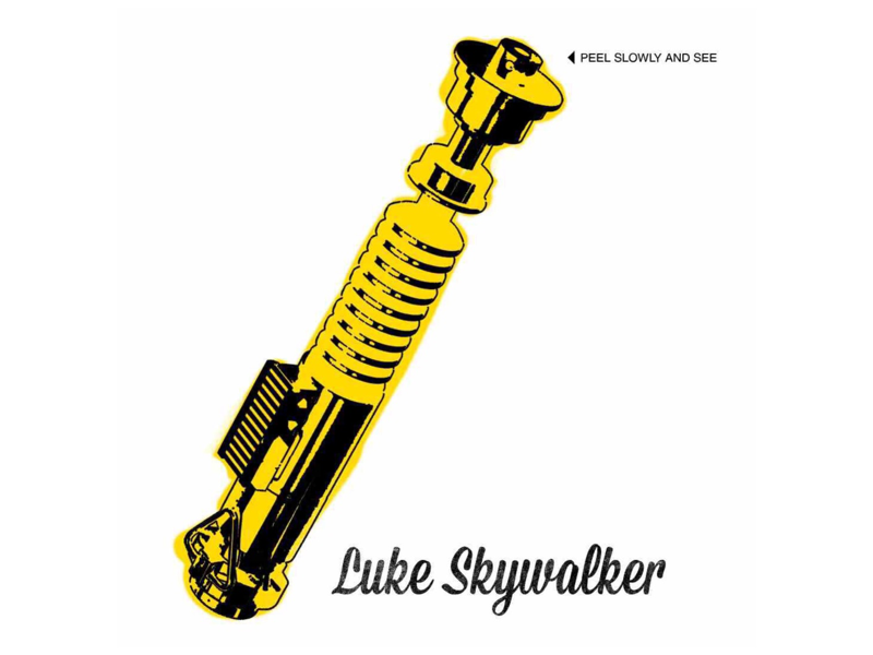 May the 4th be with you too. luke skywalker light saber bananas andy warhol vinyl velvet underground star wars