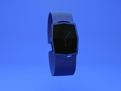 Eclipse watch eclipse blue designthis clock interface product design physical render 3d c4d