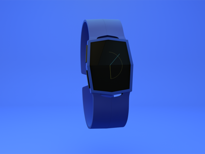 Eclipse watch eclipse blue designthis clock interface product design physical render 3d c4d