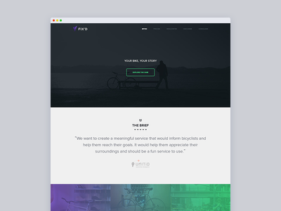 Fix'd Casestudy fixd fixies fixed gear casestudy design visual interaction onepage one pager presentation team customization