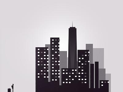 Week 1 in New York new york illustration grainy noise dark pixel blog journal story adventure freedom tower
