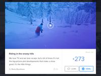 Snow Community page Modalbox