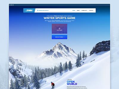 SNOW: Landingpage landingpage parallax snow scrollpage onepage visual game wintersports snowboarding skiing