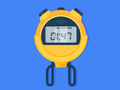 Stopwatch illustration fitness sports stopwatch color design material google flat illustration