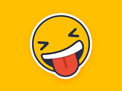 Channel Mascot xd tongue yellow mascot emoji fun smiley channel