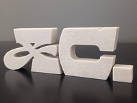 Etcetera, 3-D printed type
