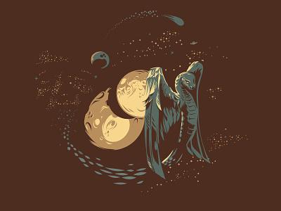 Space weird moon space illustration vector