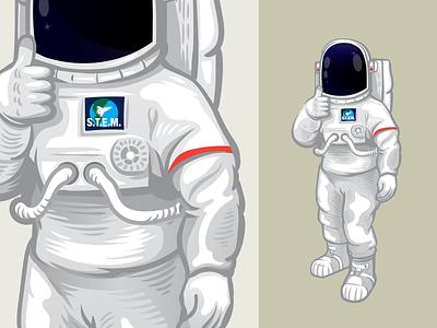 Spacehuman education stem school astronaut vector illustration vector illustration