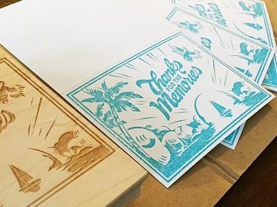 Stamped Cards thank you cards illustration print design
