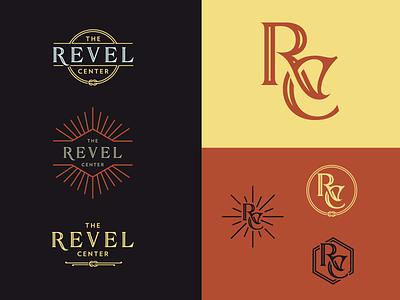Revel Center Ideas alchemist typography logo monogram wedding
