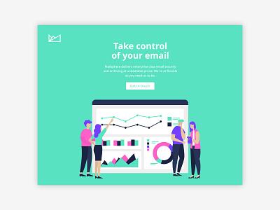 Mailsphere Art Direction / Website Concept website ui ux illustration branding brand identity