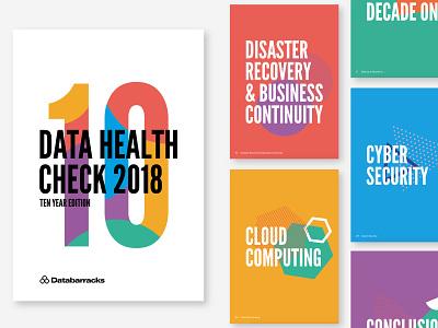 Data Health Check Brochure print brochure data visualisation data illustration typography design