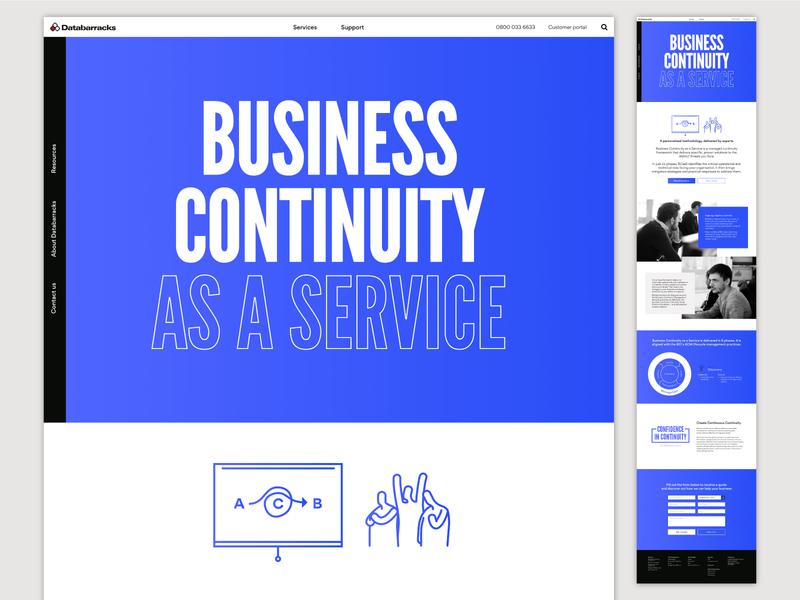 Databarracks Website business page illustration design branding website