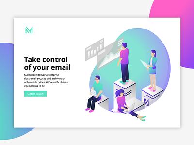 Mailsphere Art Direction / Website Concept graphic design website brand identity branding illustration design