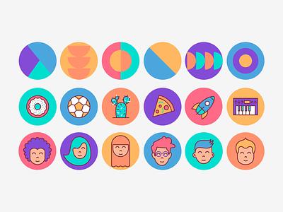 User Profile Icons user icons profile icons vector icon illustration design