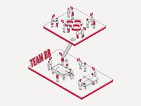 Databarracks Illustration 02 - Team Work