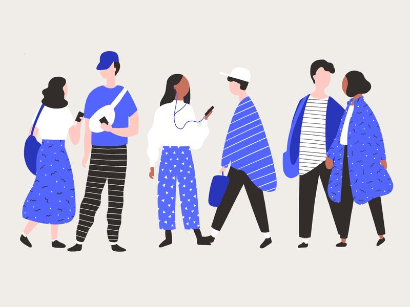 Illustration | People vector graphic design illustration design