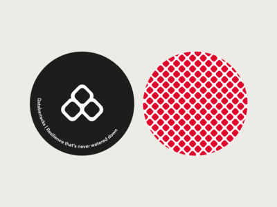 Databarracks | Coasters stationary coffee tea coasters coaster pattern vector branding design