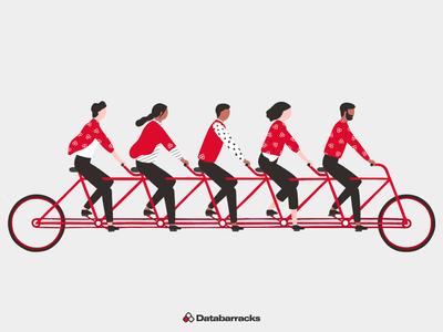 Databarracks Illustration | Team team vector vector artwork branding illustration design