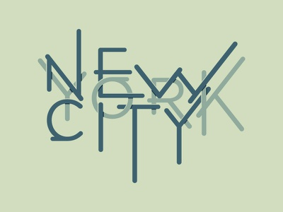 New York City new york city typography