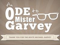 Ode To Mister Garvey