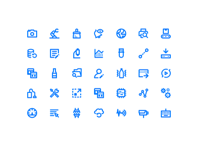 Icon set Industry 4.0 ui icon set pixel perfect illustrator vector icons