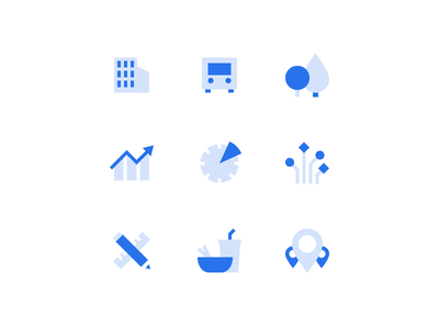 Urban Planning Icons map illustrator finder find places food tools connection remote work flexibility time chart eco enviroment nature mobility urban layers pixel perfect icons set icons