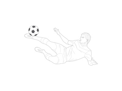 Sport illustration - soccer player player soccer illustration sport