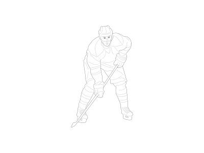 Sport illustration - hockey hockey illustration sport