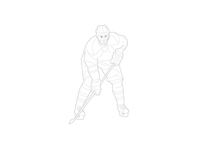 Sport illustration - hockey hockey illustration sport