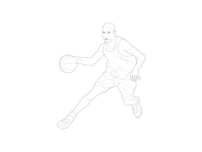 Sport illustration - Basketball player player basketball illustration sport