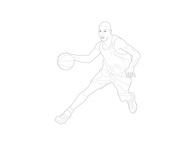 Sport illustration - Basketball player player basketball illustration sport