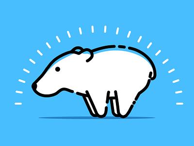 illustration - bear bear vector illustration identity