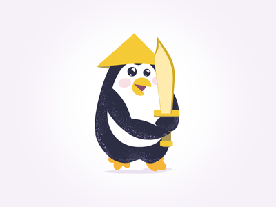 Penguin for Alabom.com design vector art illustration identity
