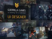 Guerrilla Games is looking for UI Designer