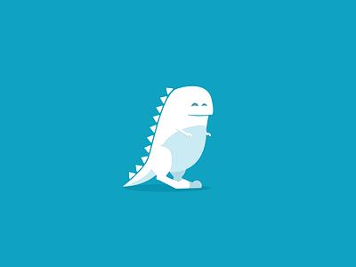 Little Dinosaure illustration flat dinosaure