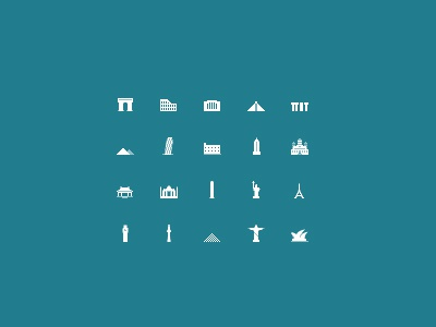 Mini Pixel Monuments pixel monument