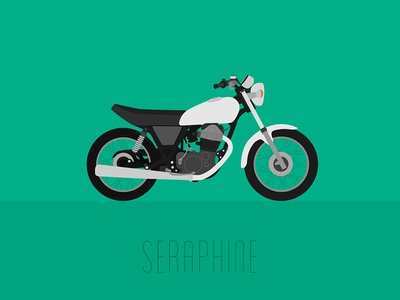Yamaha SR500 • Poster moto flat illustration motorcycle poster vector
