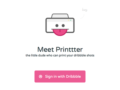 Meet Printtter print web dribbble landing beta shots printtter