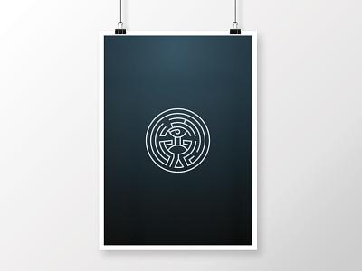 The Maze • Westworld maze vector poster westworld tv show